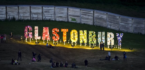 Glastonbury festival sign
