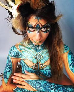 Tribal Warrior Princess Body Paint