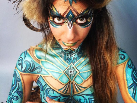 TRIBAL WARRIOR BODY PAINT // COLLAB