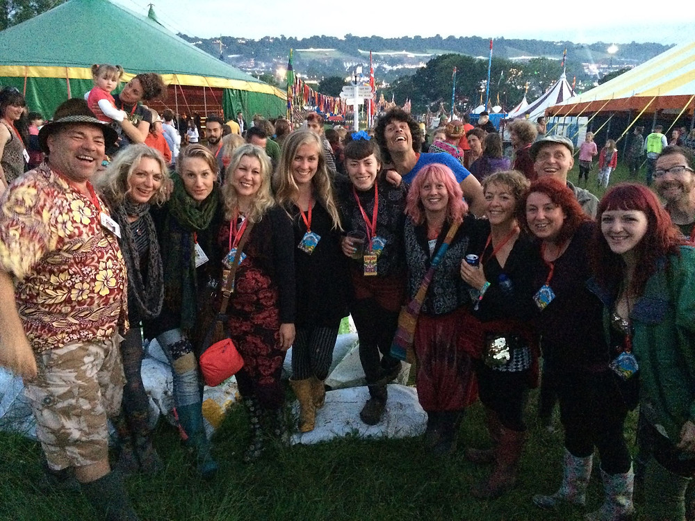 Glastonbury face painters dream team