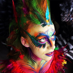 Face painting for performers