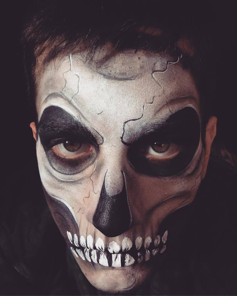 Halloween Adult Skull Face Paint