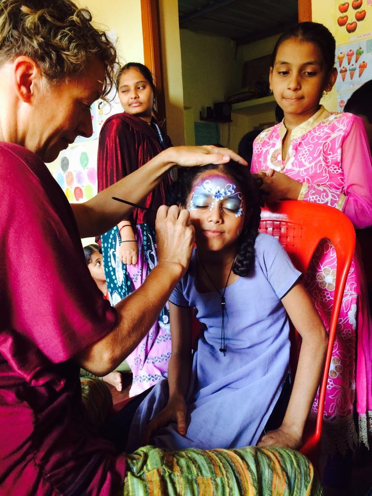 Face painting in India