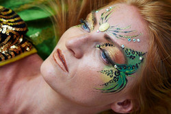 adult glitter face painting