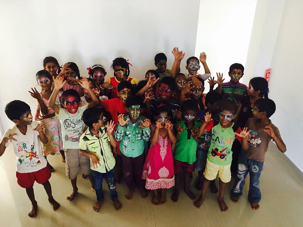 Indian children face painting