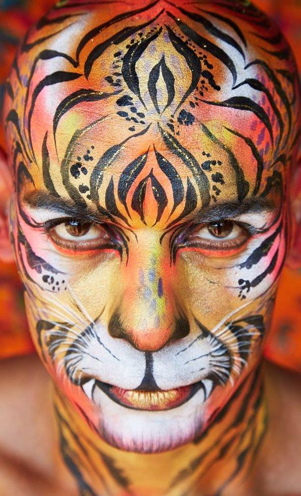 Adult Tiger Face Paint