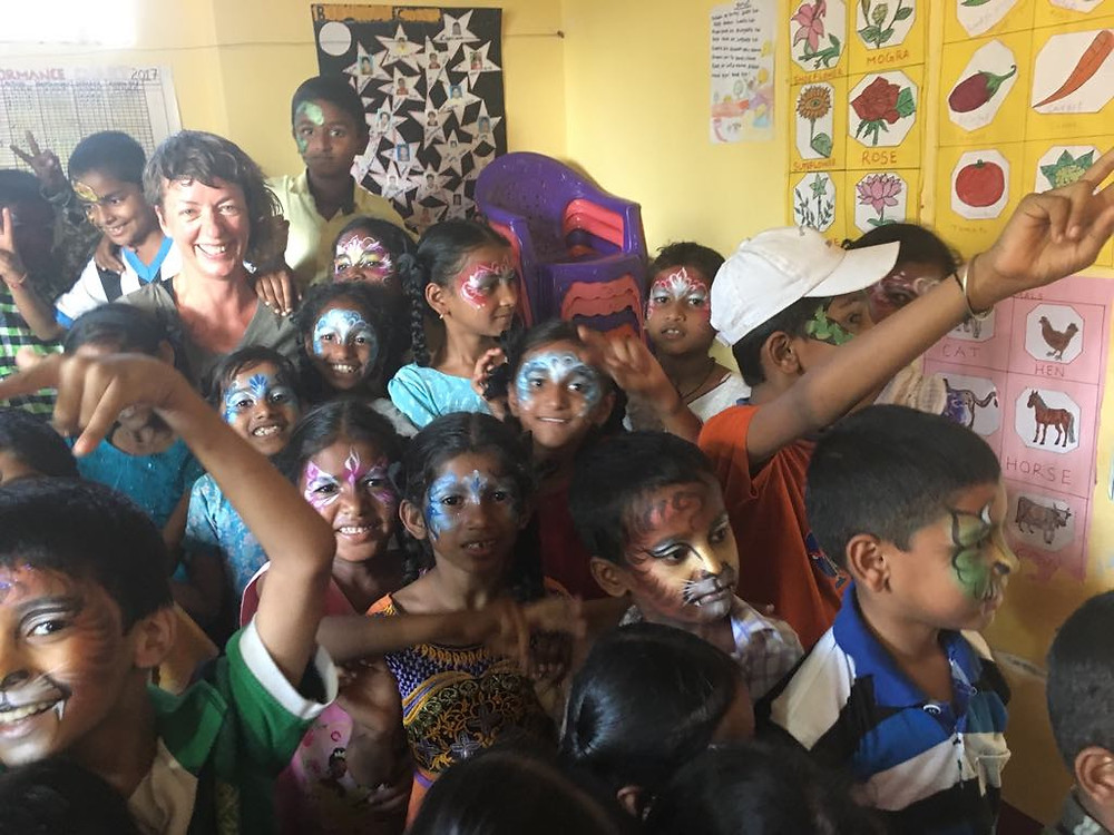 Indian school face painting