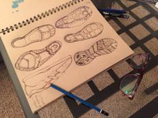 Shoe sole idea sketch