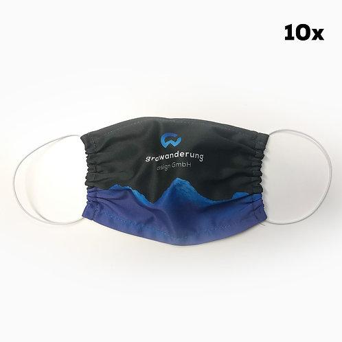 Mund- und Nasenmaske mit Ihrem Logo (10 Stk.)