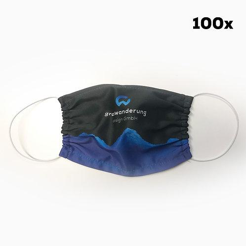 Mund- und Nasenmaske mit Ihrem Logo (100 Stk.)