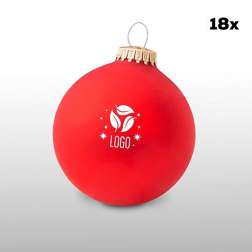 Weihnachtskugeln rot (18 Stück)