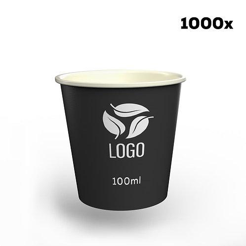 Espresso-Pappbecher in Ihrem Design - 100 ml (1000 Stück)