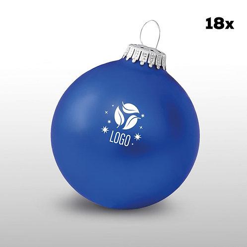 Weihnachtskugeln blau (18 Stück)