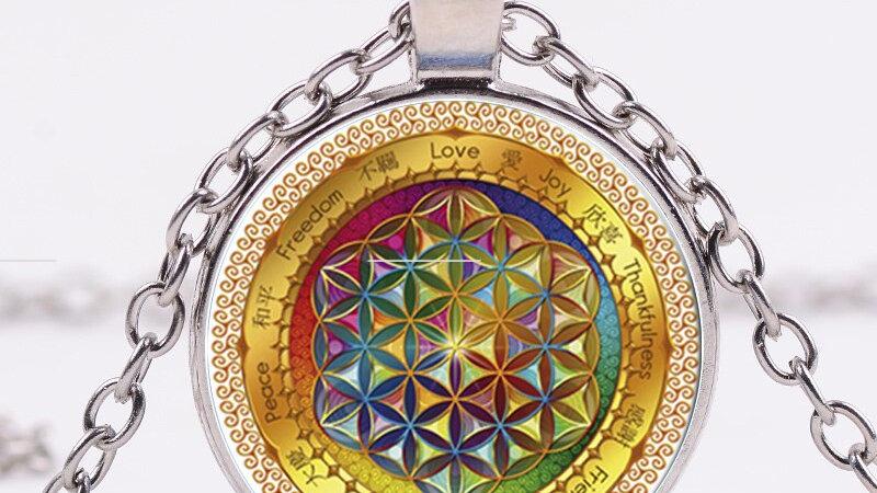 SONGDA Neue Blume des Lebens Halskette
