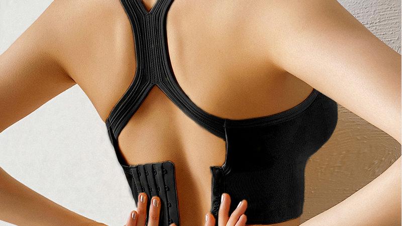 Bali Rückenfreier Yoga-BH Nahtloser Push-Up-Sport-BH