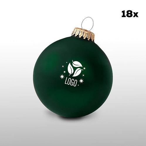 Weihnachtskugeln dunkelgrün (18 Stück)