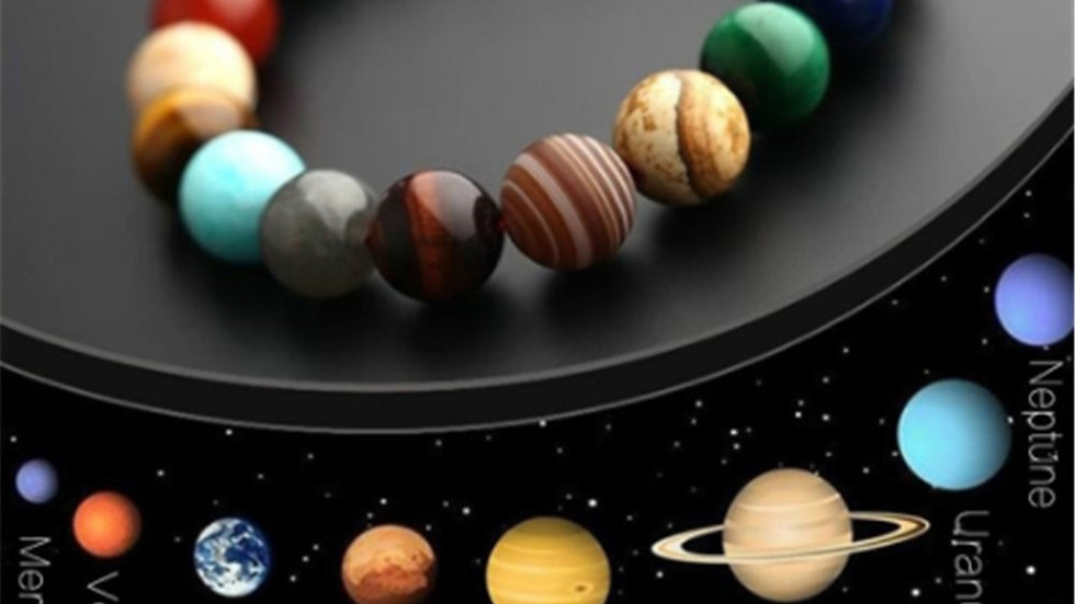 """Eight Planets"" Perlen Armband Handmade"