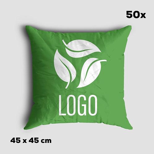Kissen in Ihrem Design und Wunschfarbe, 50 Stück