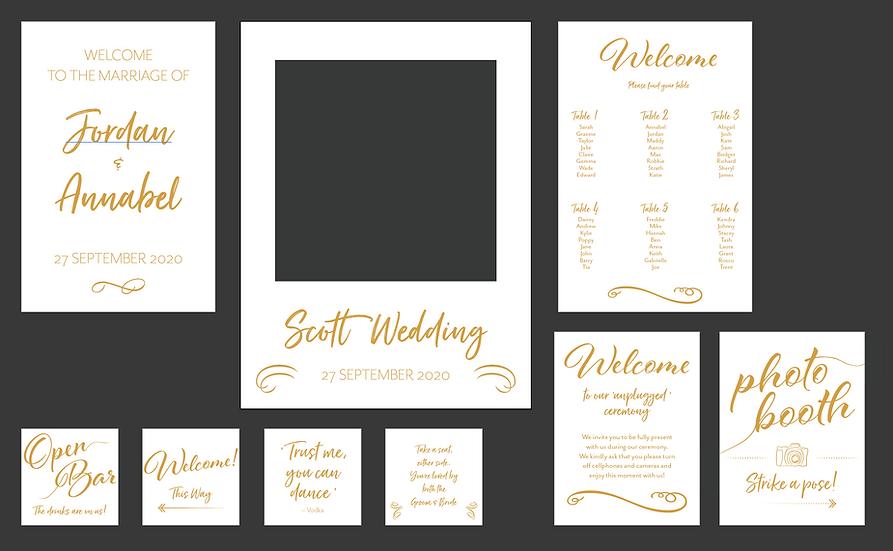 Corflute Wedding Signs
