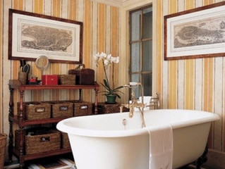 BATHROOM WALLPAPER INSPIRATION!