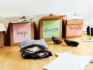 GET ORGANIZED-WHAT TO KEEP, DONATE AND TRASH