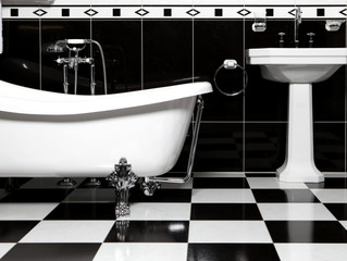 BLACK AND WHITE FLOORING :               GET INSPIRED