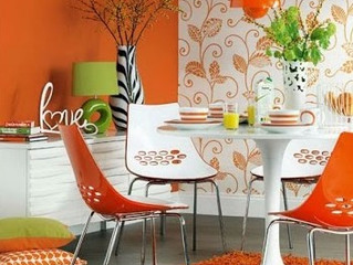 HOW TO USE ORANGE IN A ROOM