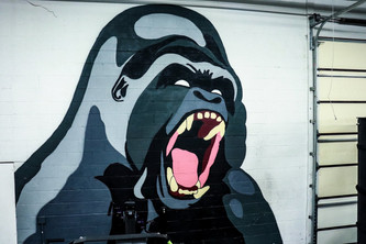 Gorilla Painting at Upgraded Industires