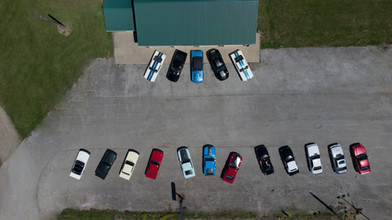 Arial Photo of Ford Mustangs at GTS Classic Motors