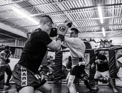 Kickboxing at Upgraded Industires