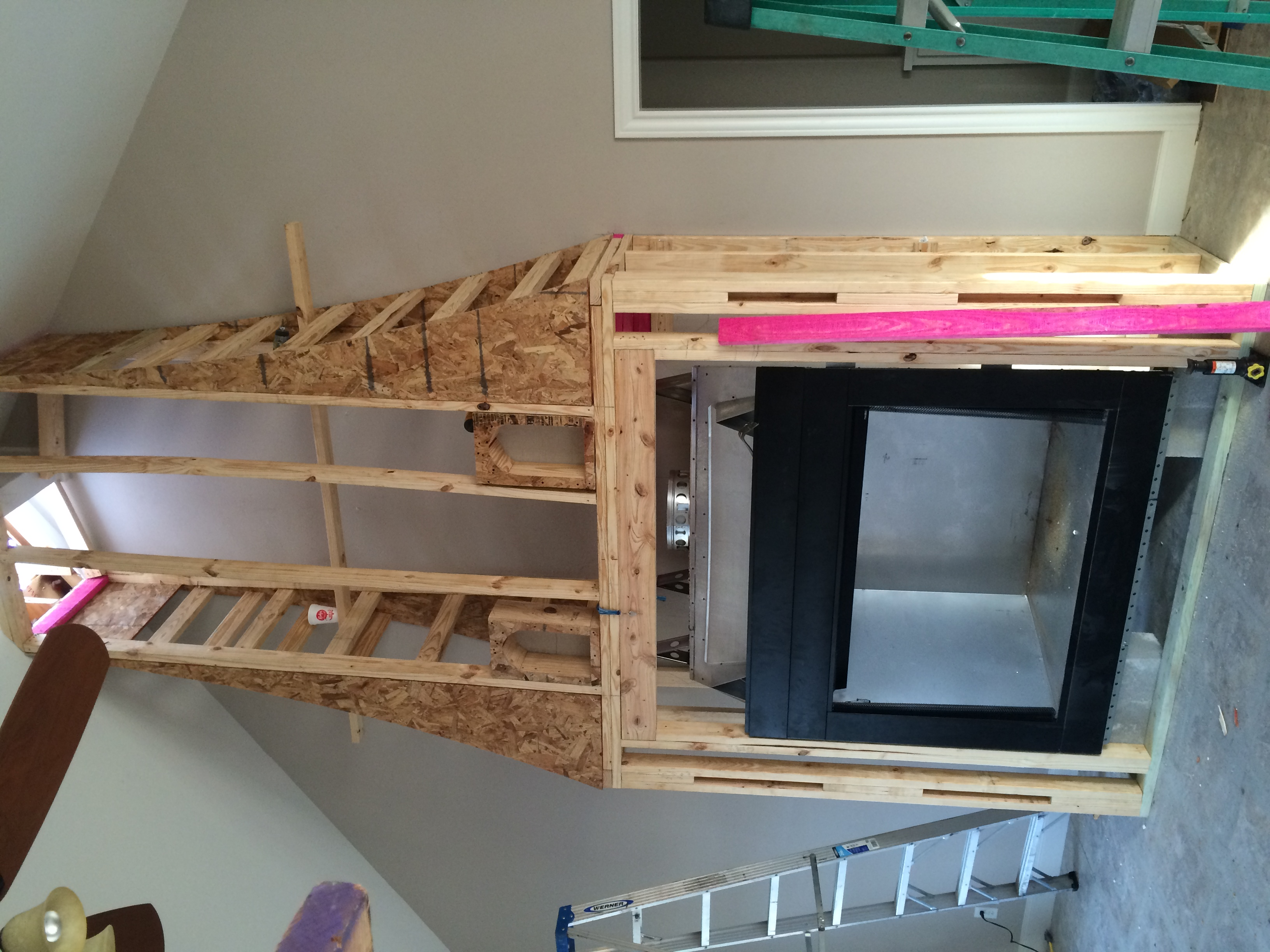 Add On Fireplace framing