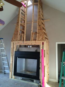 Add On Fireplace framing