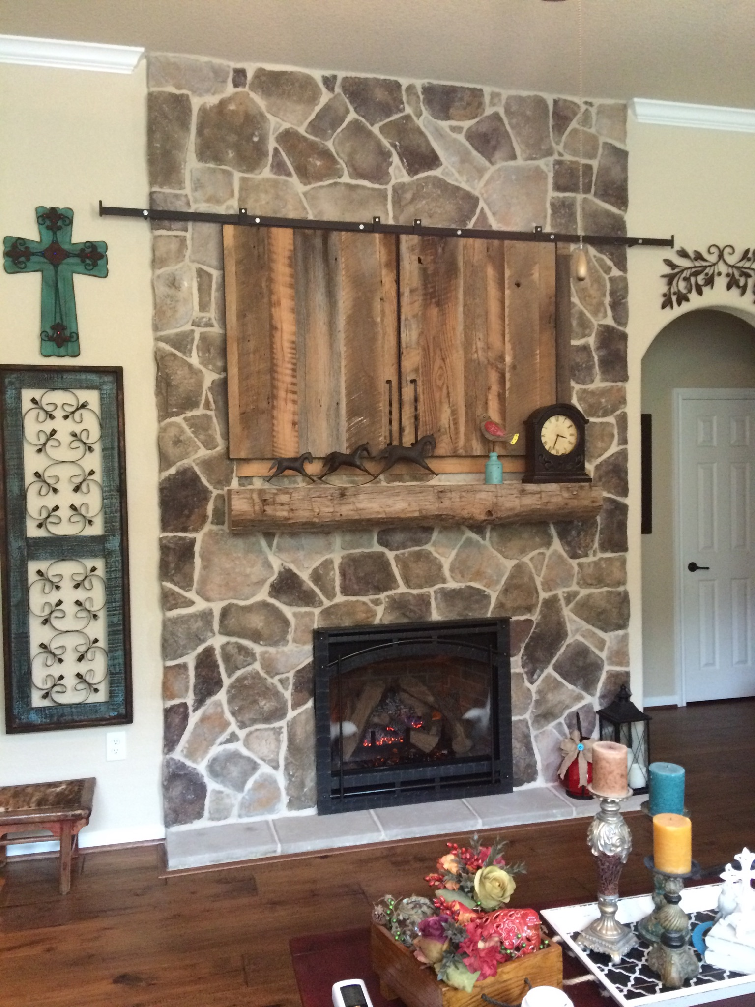 Barn Beam Mantel