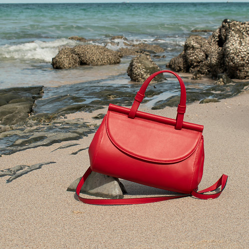 Marie leather bag | Red