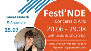 Venez découvrir Laura-Elisabeth et Alexandra ce dimanche 25/07