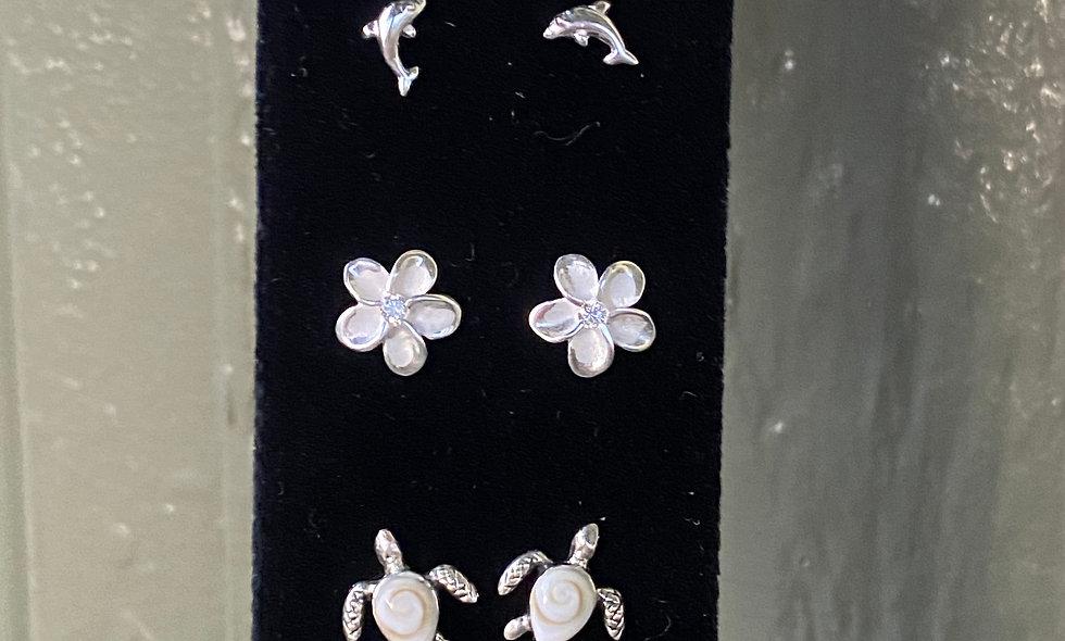 Silver Studded Earrings