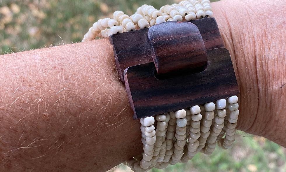 Beads and Monkeypod Bracelets