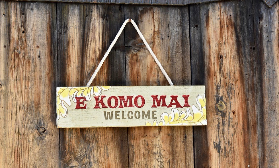 Aloha Wood Signs