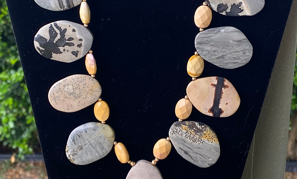 Shells and Stones Necklaces