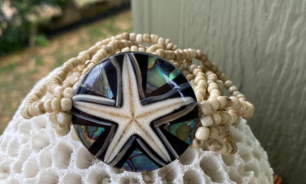 Starfish and Shell Beaded Bracelets