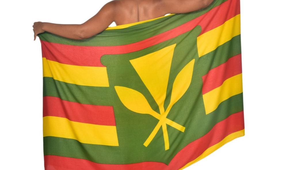 Kānaka Maoli Flag Sarong