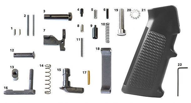 Geissele's Standard Lower Parts Kit, with Grip