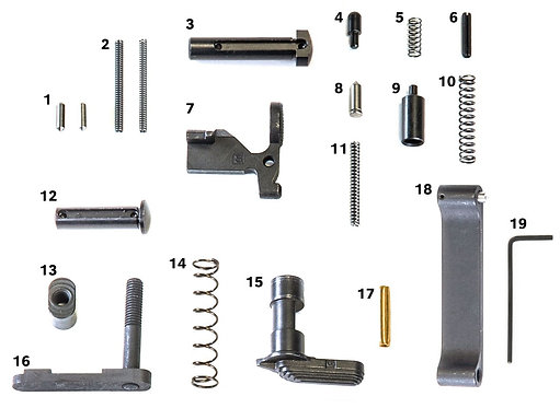 Geissele's Standard Lower Parts Kit, No Grip