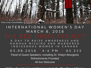 International Women's Day Events - Missing and Murdered Indigenous Women - Brock University