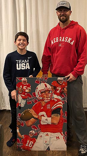 """Husker"" painting finds home in Texas"