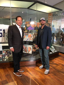 Les Miles with his HOF portrait