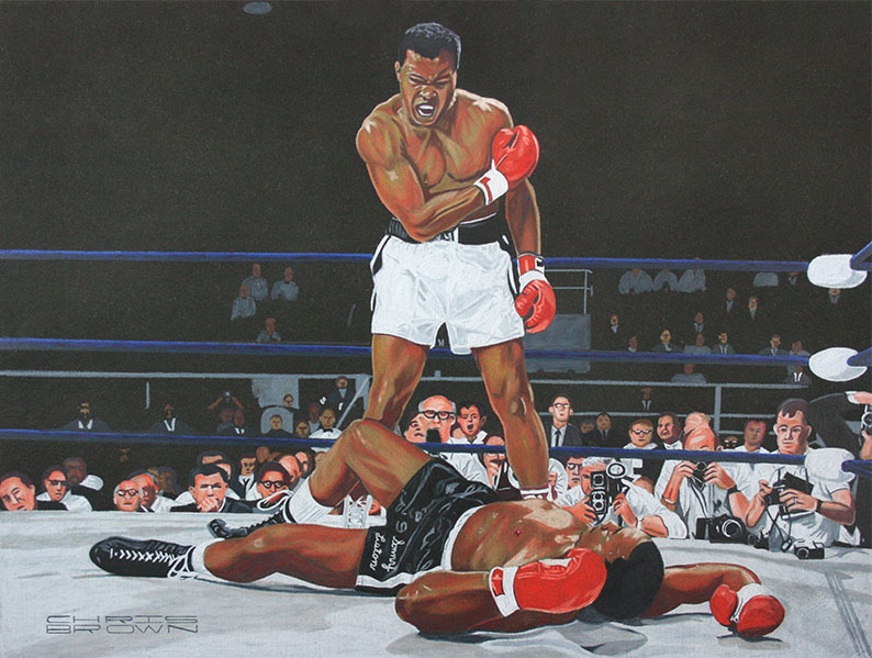 Ali Knocking Out Liston