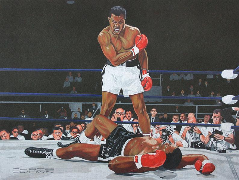 Ali Knocking Out Liston