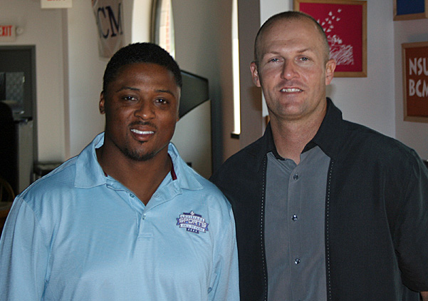 Chris With Warrick Dunn