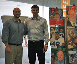 Chris with Jake Delhomme